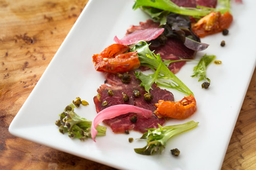Beef Carpaccio by Chef Leary at Oak & Grain